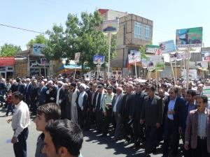راهپیمایی روز جهانی قدس در ورزقان