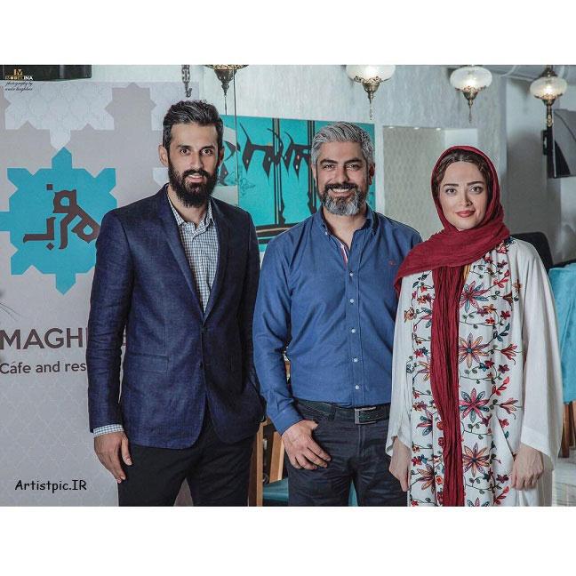عکس بهنوش طباطبایی و مهدی پاکدل و سعید معروف