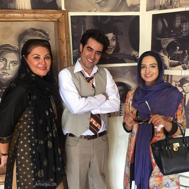 عکس گلاره عباسی و شهاب حسینی و لاله اسکندری