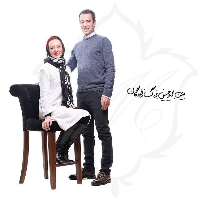 عکس نیما فلاح و و همسرش سحر ولد بیگی