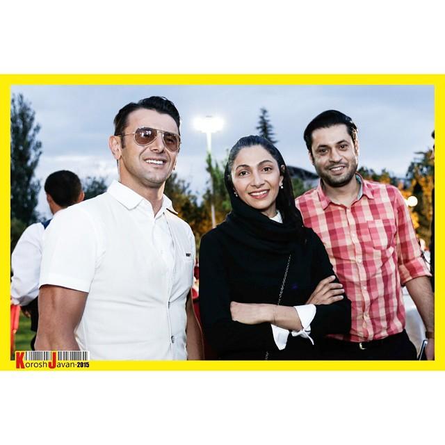 عکس امین حیایی و همسرش نیلوفر خوش خلق
