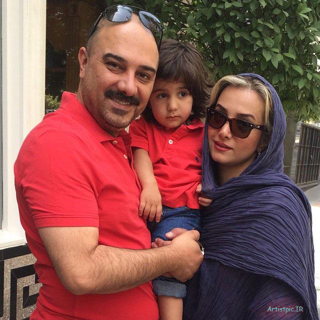 عکس برزو ارجمند و همسر و پسرش