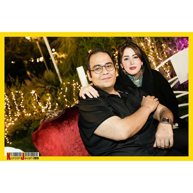 عکس رضا داوود نژاد و و همسرش غزل بدیعی