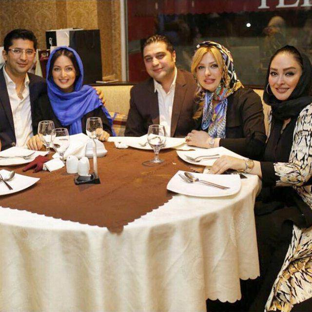 عکس الهام حمیدی و نیوشا ضیغمی و همسرش و شیلا خداداد و همسرش