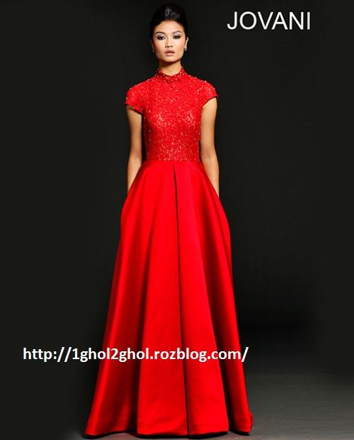 مدل لباس مجلسی قرمز 93