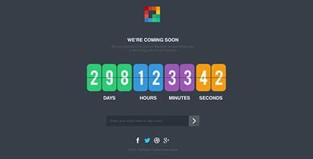 قالب صفحه در حال ساخت Pixp Countdown به صورت HTML و CSS3