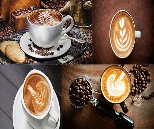 والپر های بسیار زیبا از شکل های درست شده بر روی قهوه