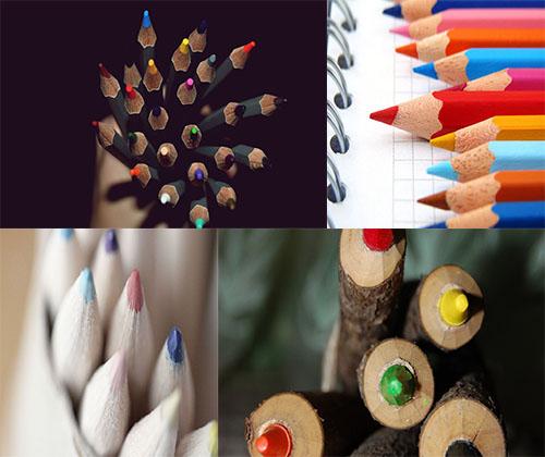 سری دو والپرهای بسیار زیبا از مداد رنگی ها