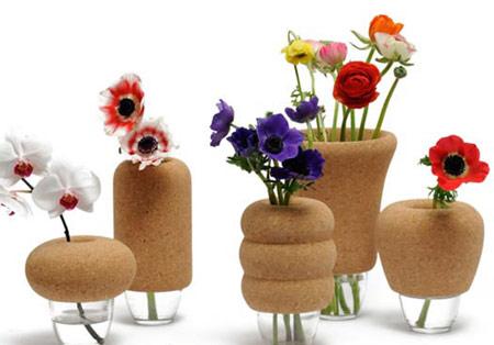 مدل های جدید گلدان های شیشه ای با سر چوب پنبه ای