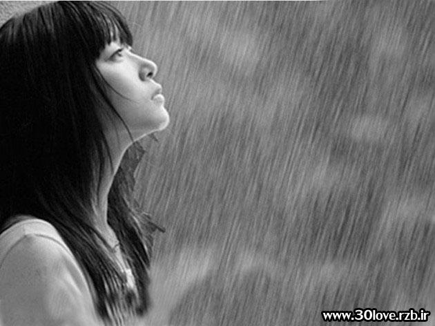 عکس دختر تنها در باران   سایت عکس