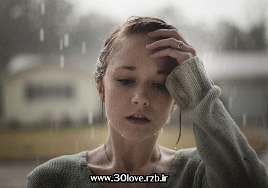 عکسهای دختر تنها زیر باران