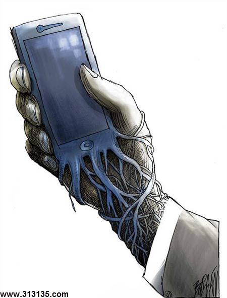 کاریکاتور گوشی هوشمند