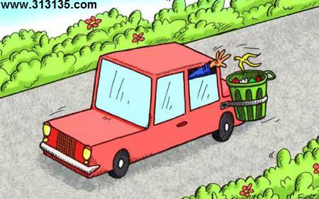کاریکاتور زباله در مسافرت