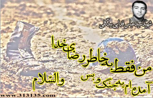شهید سید عباس فدایى بیدگلى