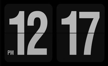 دانلود اسکرین سیور ساعت دیجیتال Fliqlo برای ویندوز XP