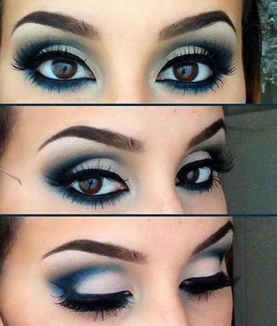 آرایش چشم با هارمونی آبی