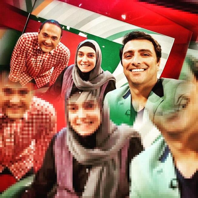عکس های امین زندگانی و همسرش الیکا عبدالرزاقی در برنامه خندوانه