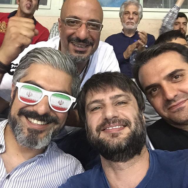 عکس های بازیگران در حاشیه دیدار والیبال ایران و آمریکا