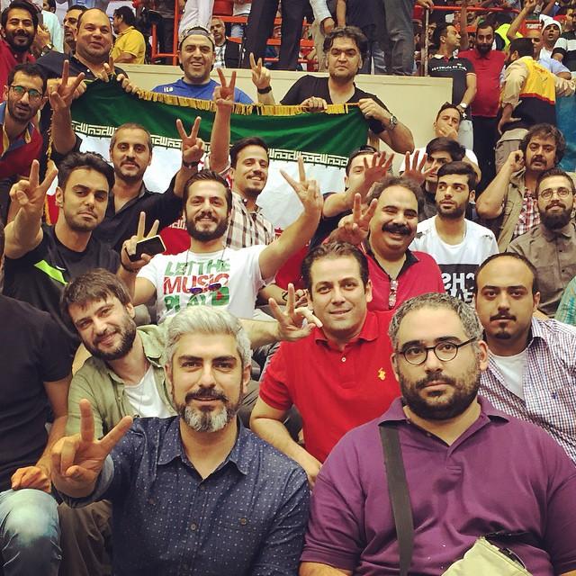 عکس های بازیگران در حاشیه دیدار والیبال ایران و لهستان