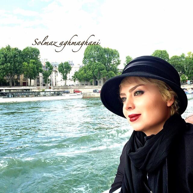 عکس های جدید سولماز آقمقانی در پاریس
