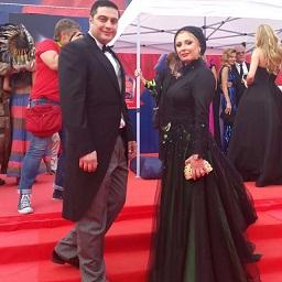 نیوشا ضیغمی و همسرش در فستیوال مسکو