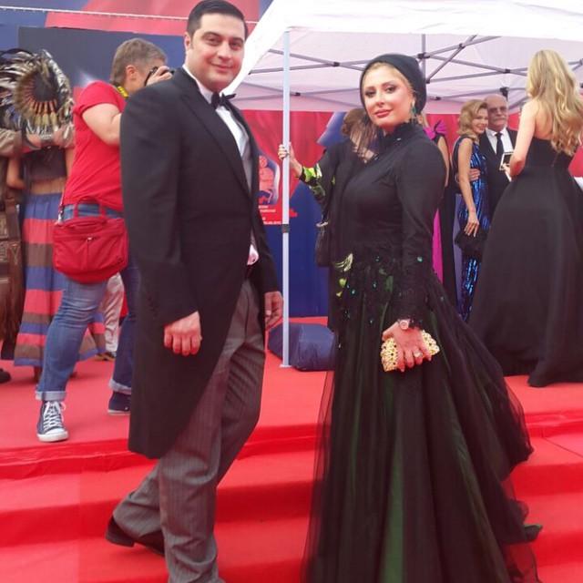 عکس نیوشا ضیغمی و همسرش در فستیوال مسکو
