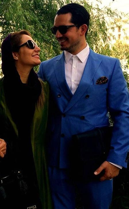 عکس جدید مهناز افشار و همسرش