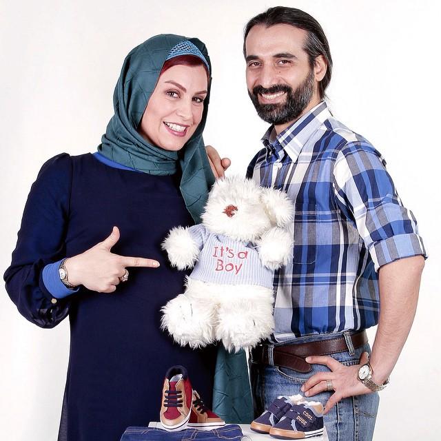 عکس ماه چهره خلیلی با همسرش