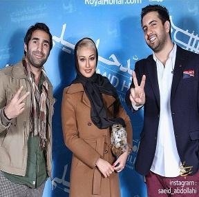 عکس صدف طاهریان و هادی کاظمی در کنسرت امید حاجیلی
