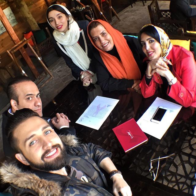 عکس سلفی محسن افشانی و لیلا بلوکات و فریبا کوثری و خاطره خاتمی