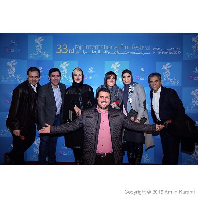 عکس های هنرمندان در افتتاحیه جشنواره فیلم فجر 33