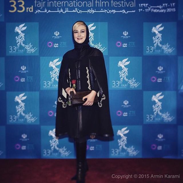 عکس های آنا نعمتی در افتتاحیه جشنواره فیلم فجر 33