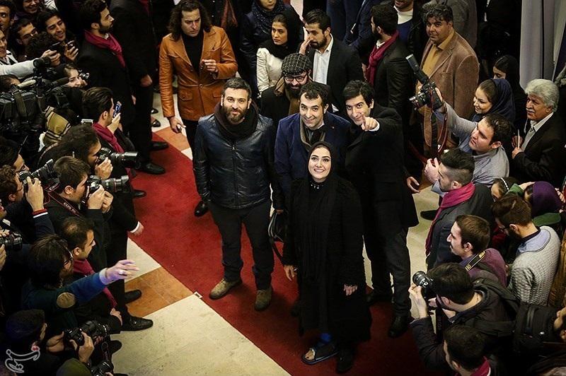 عکس های باران کوثری در مراسم اختتامیه جشنواره فیلم فجر 33