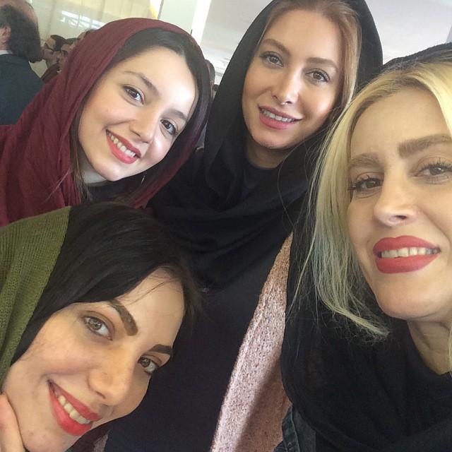 عکس های فریبا نادری در جشنواره 33 فیلم فجر در برج میلاد