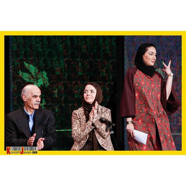 عکس های هانیه توسلی در مراسم اختتامیه جشنواره فیلم فجر 33