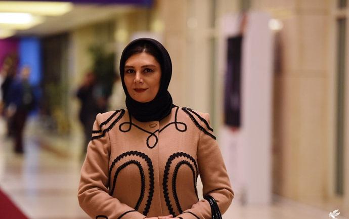 عکس های هنگامه قاضیانی در سی و سومین جشنواره فیلم فجر