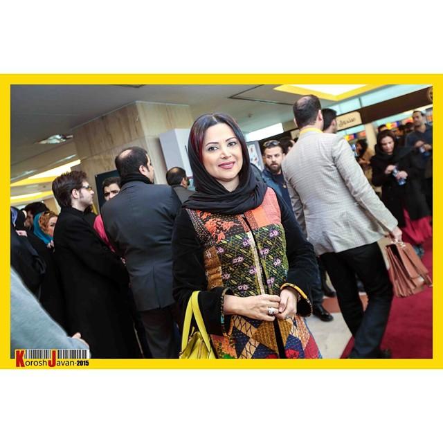 عکس های کمند امیر سلیمانی در جشنواره فیلم فجر 33