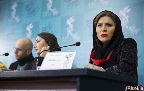عکس های سحر دولتشاهی در حاشیه جشنواره فیلم فجر 33