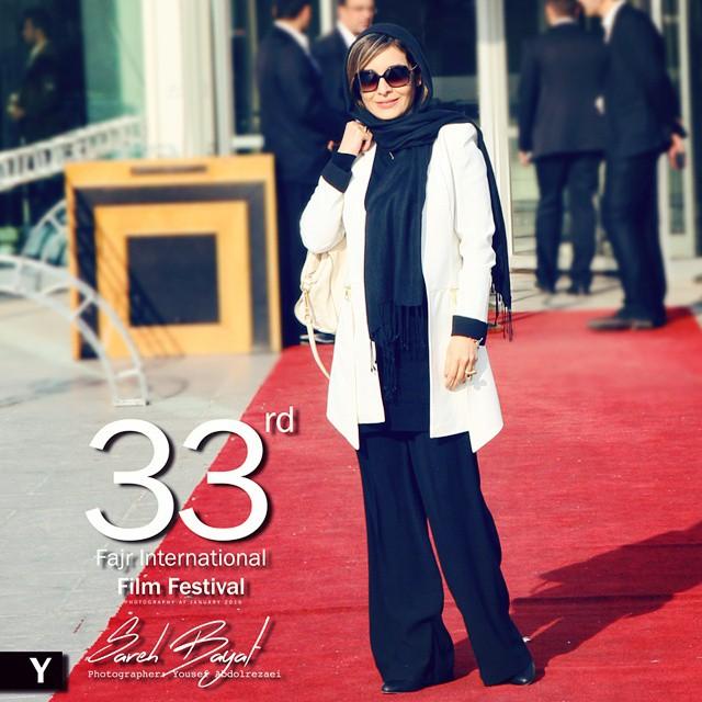 عکس های ساره بیات در جشنواره فیلم فجر سال 93
