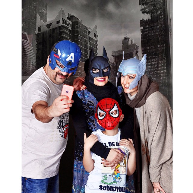 عکس های جدید شقایق دهقان و خانواده اش