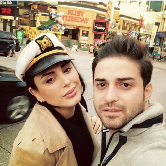 عکس بابک جهانبخش و همسرش مروارید در خارج از کشور