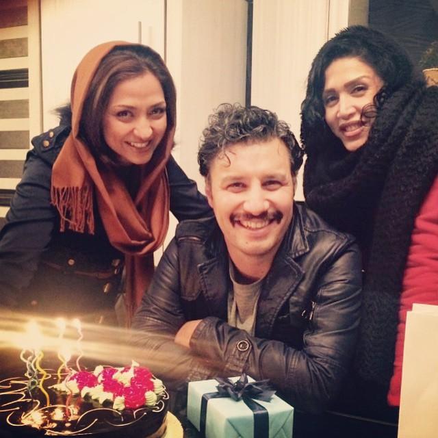 عکس جدید از جشن تولد جواد عزتی