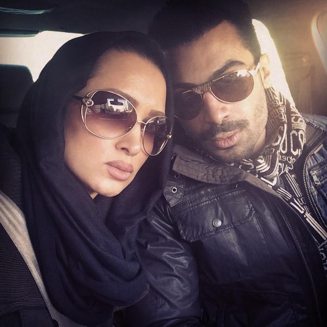 روناک یونسی و همسرش محسن میری