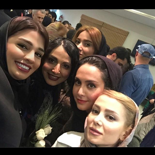 عکس سلفی سیما خضرآبادی و الناز حبیبی و مریم خدارحمی
