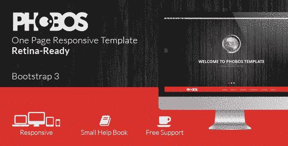 قالب تک صفحه ای واکنش پذیر طراحی سایت html