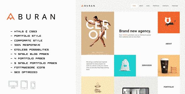 قالب سایت طراحی گرافیک لوگو برند HTML
