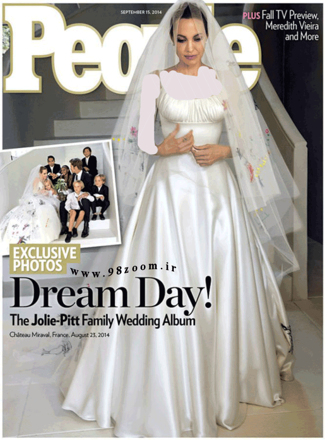 عكس لباس شب عروسي آنجليناجولي