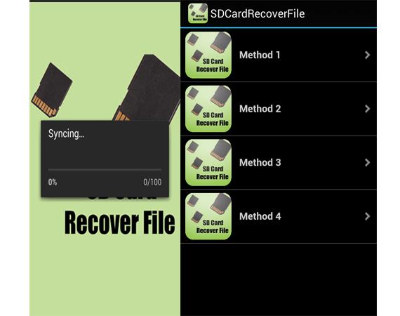 بازیابی اطلاعات از دست رفته برای اندروید SDCardRecoverFile
