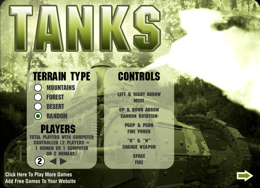 تصویری از محیط بازی تانک