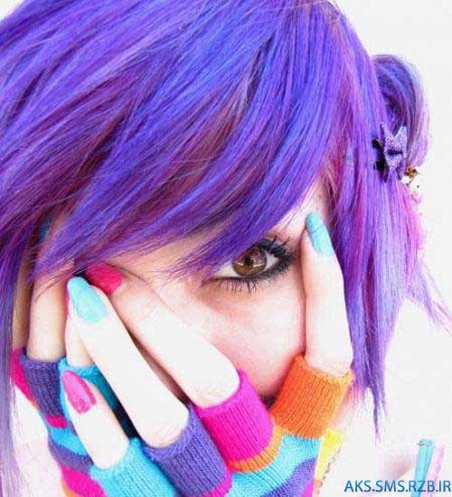 مدل رنگ مو جديد فانتزی دخترانه 94